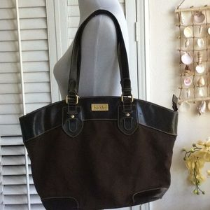 Nichole Miller Zippered Canvas Tote